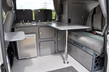 Interior view of converted van